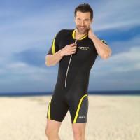 Cressi Wassersportanzug Shorty Playa 2.5 mm Neopren - Herren schwarz gelb