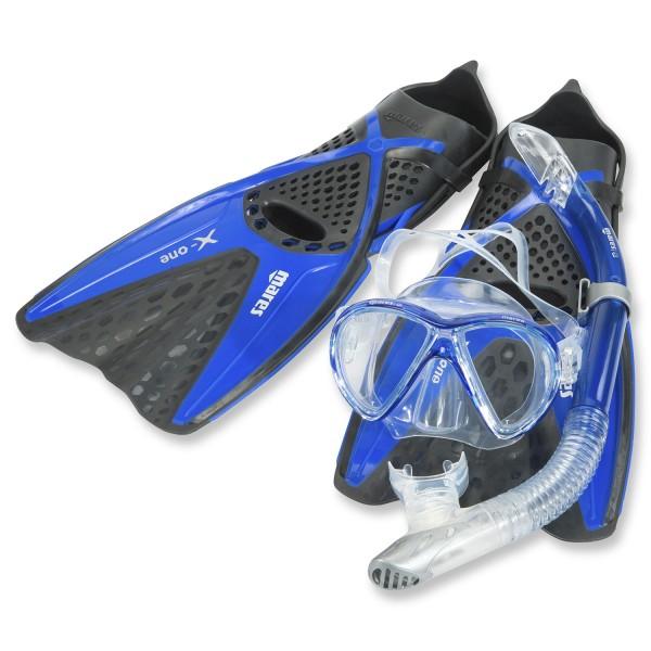 Mares X-One Marea Schnorchelset für Erwachsene - verstellbar mit Ventilschnorchel