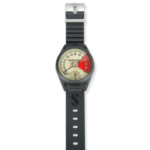 Scubapro Tiefenmesser ANALOG mit Schleppzeiger und Thermometer