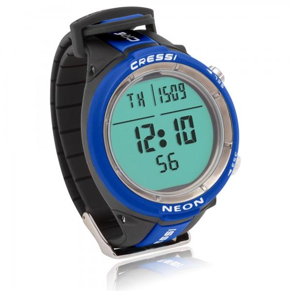 Cressi Tauchcomputer Neon - im Uhrenformat, blau