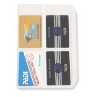 Vinyl Card Holder von Padi, für Tauchausweise