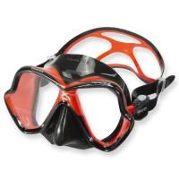 Mares X-Vision Ultra LiquidSkin Tauchmaske - schwarzes Silikon, rot schwarz