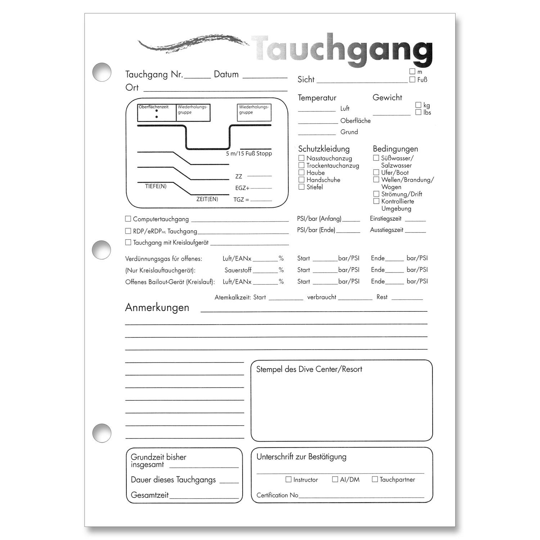 Log Page Refill von Padi, Logbucheinlagen   Logbücher   Logbücher ...