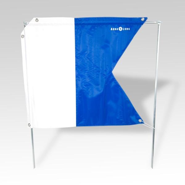 Taucherflagge 68 x 59 cm von Aqualung, Alpha-Flagge