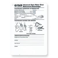 Schreibtafel PADI Advanced Open Water Diver