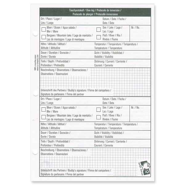 IQ Logbucheinlagen L - 2 TG pro Seite